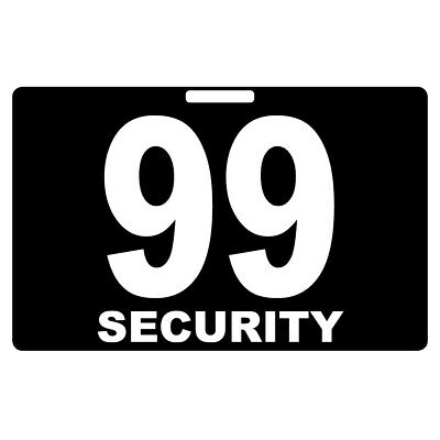 Security Card Number PVC Black Guard Crowd Controller Tag ID Plastic Custom
