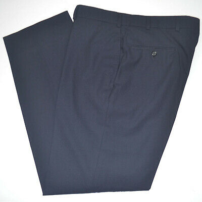 BROOKS BROTHERS Fitzgerald BrooksCool Navy Flat Front Dress Pants Sz 33 x 30