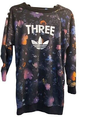Girls Multi Coloured Adidas Tracksuit Top Age 12-13 Years.