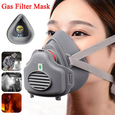 Anti Gas Mask Survival Safety Respiratory Emergency Filter Pad Face Masks New