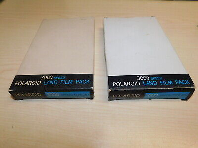 2 EXPIRED Polaroid Land Film Pack Black & White/ 3000 Speed Factory sealed