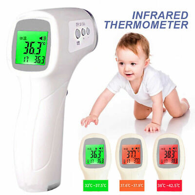 IR Infrared Digital Non-Contact Forehead Thermometer Baby Adult Temperature*