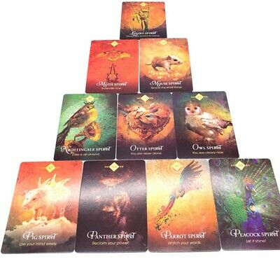 68PCS/Set Tarot Cards Spirit Animal Oracle Cards Unknow Fade Playing Game NEW