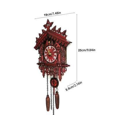 Decor Cuckoo Home Wall Hand-Carved Clock Wooden House Cuckoo Black Forest Clocks