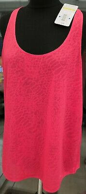 NEW Under Armour Fit Achieve Tank Top Gym Pink Womens Girls Size XL
