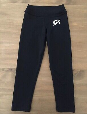 Girls GK Black Gymnastics Leggings Size CXS