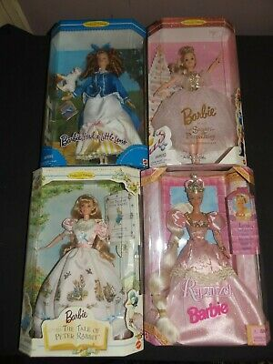 Four Of The Fairy Tale Barbie Dolls