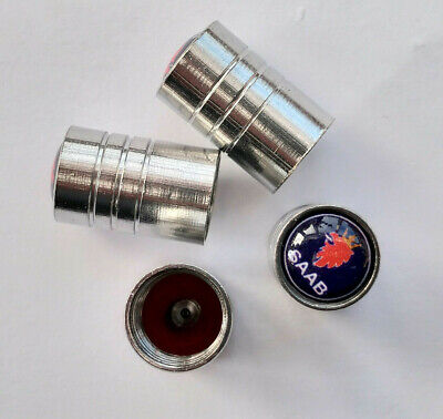 SAAB Silver valve Tyre Dust Caps  all models