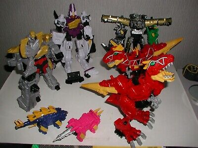 Complete without Chargers Power Rangers Deluxe Dino Charge T-Rex Megazord