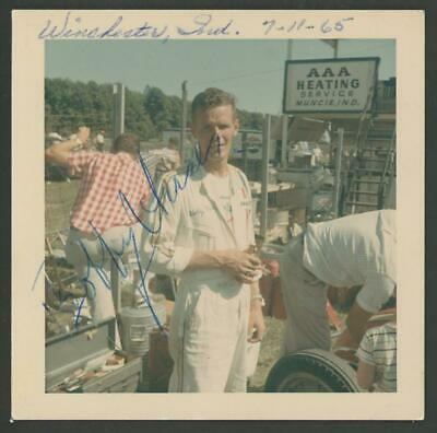 BOBBY UNSER signed 1965 original Kodak vintage photo - AUTOGRAPH Indy
