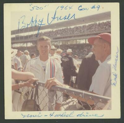 BOBBY UNSER signed 1964 original Kodak vintage photo - AUTOGRAPH Indy