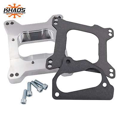 """Chevy TBI To Holley Edelbrock 4 Barrel Intake Manifold Adapter 2"""" Open"""