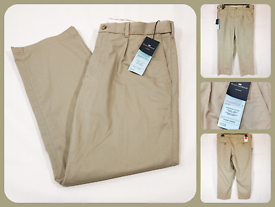 BNWT Blue Harbour Marks Spencer Storm Wear Chino Pleat Front Fairtrade Beige
