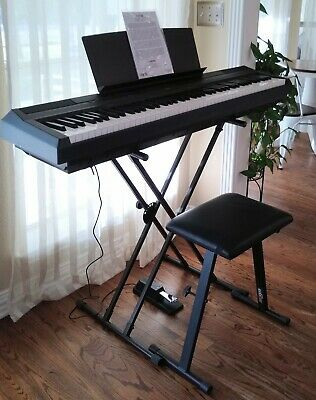 Yamaha P115B 88-Key Weighted GHS Action Digital Piano Black - EXCELLENT!