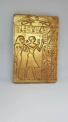 Ancient Egyptian Gold Gilded Stone Tablet