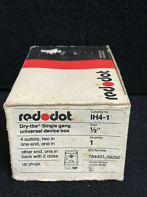 Vintage RED DOT Dry Tite Single Gang Universal Device Box IH4-1