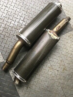 Ducati Monster Termignoni S4 900 Carbon Mufflers Exhaust Silencers