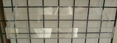 """Store Display Fixtures GRIDWIRE ACRYLIC TRAY 16"""" long x 8"""" deep"""