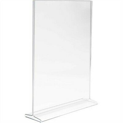 "Store Display Fixtures NEW ACRYLIC TOP LOAD SIGN HOLDER 11""W X 14"" H Bottom Load"