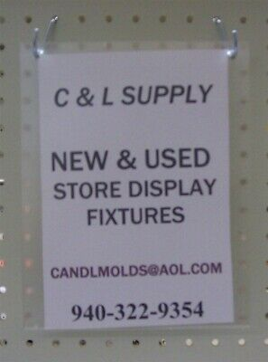 "Store Display Fixtures 3 ACRYLIC WALL MOUNT SIGN HOLDERS 10"" TALL X 8"" WIDE"