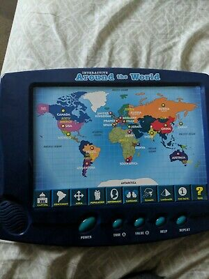 Interactive Around The World Map Fun Educational Geography Games
