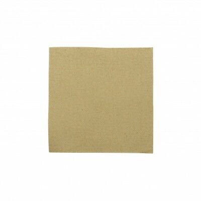 NEW Kraft 2 Ply Quilted Paper Cocktail Napkins - 115mm - 230x230 Unfolded