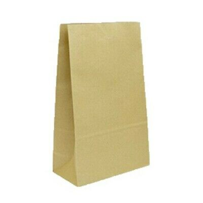 NEW Brown Paper Checkout Bags - 240mm - 120mm gusset - CARTON(250) - Kent Paper