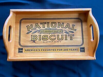 National Biscuit Company Wooden Tray - 200 Years Celebration - 1791 1992
