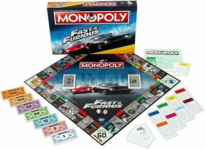 Monopoly Fast and Furious Board Game Includes Free Top Trumps Pack