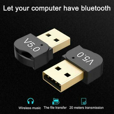 USB 5.0 Bluetooth Adapter Wireless Dongle High Speed For PC Windows Win10/8 X5Y9