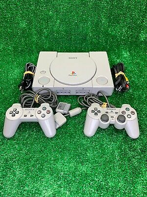 Sony PlayStation 1 PS1 Console System w/ 2 Controller Bundle - Tested / Working