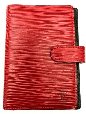 Authentic Louis Vuitton Diary Cover Agenda PM Epi Red 5813239