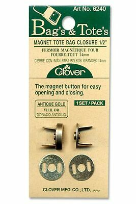 Bag Closure Magnet for Tote Bags 14mm Antique Gold