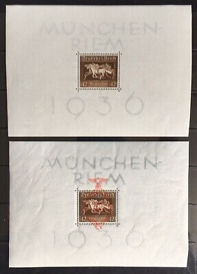 Germany Third Reich 1936-1937 Brown Band Blocks 4 & 10 MLH