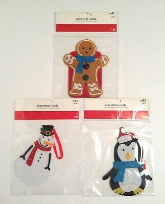 Christmas Felt Gift Card Holder YOU PICK ONE Snowman, Penguin & Gingerbread Boy
