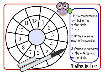 Re-usable Maths Worksheets For Kids Timetables Division Subtraction  EYFS