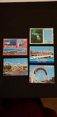 5 Vintage SEA WORLD Gold Coast Postcards - unused