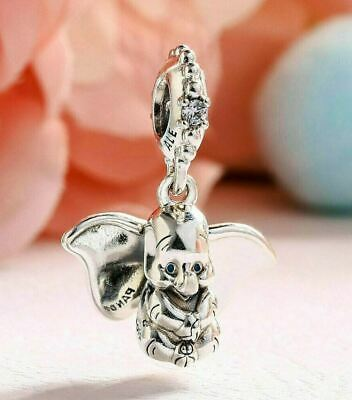 New Pandora Genuine Authentic Sterling Silver Disney Dumbo Elephant Dangle Charm