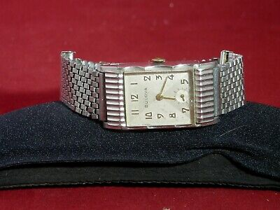 Extremely RARE MENS White gold filled 1950 Bulova Academy Award