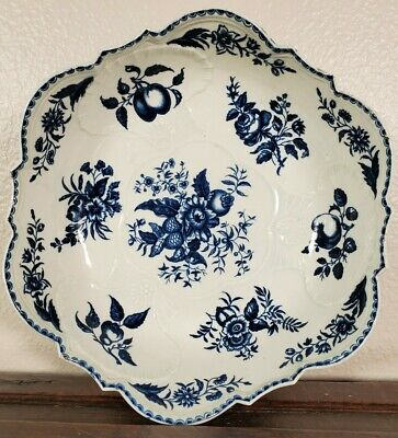 Antique Worcester Dr Wall Porcelain Junket Bowl Salad Dish First Period 1700s