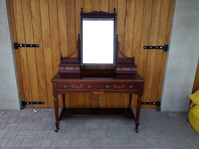 Maple & Co Dressing Table stunning quality & inlay Victorian Edwardian mahogany