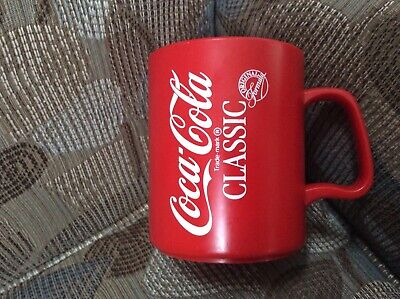 Vintage Coca-Cola *Double Sided* Hard Plastic Mug