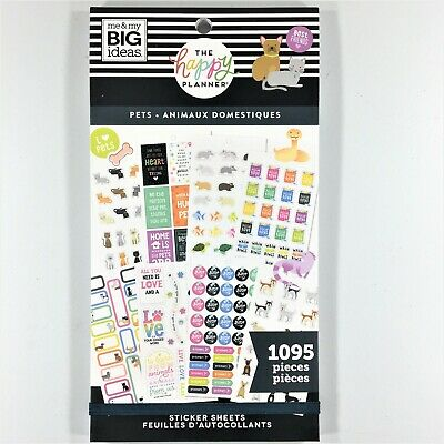 The Happy Planner Pets Sticker Book Pack Of 1095 Me & My Big Ideas