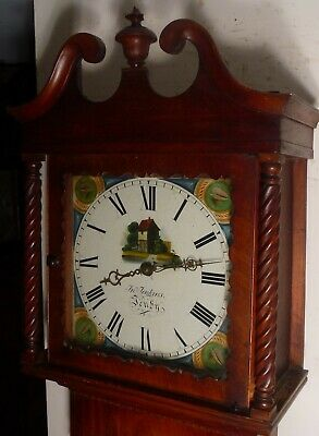 "Antique Mahogany  "" Tenby ""    78"" High  Longcase / Grandfather Clock"