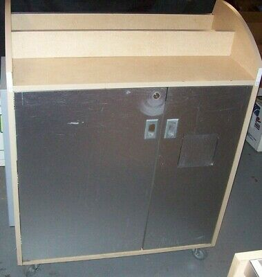 """Store Fixture Supplies LOCKING ROLLING COUNTER WITH STORAGE 36"""" long"""