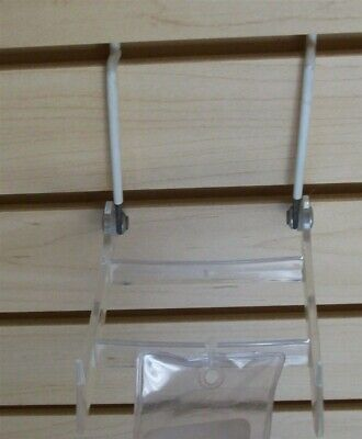 Store Display Fixtures 2 NEW SLAT WALL ADJUSTABLE ACRYLIC EASEL 4""