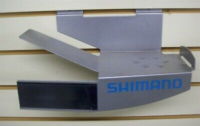 """Store Display Fixtures 7 METAL SLATWALL SHOE SHELVES 4.5"""" x 11"""" with Sign Holder"""