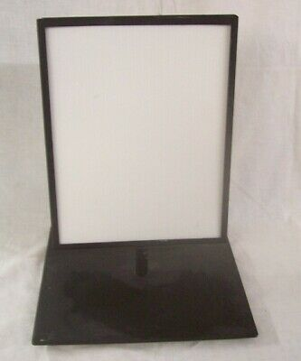 """Store Fixtures WEIGHTED BASE TABLE TOP SIGN HOLDER 14"""" tall HOLDS 8.5"""" x 11"""""""