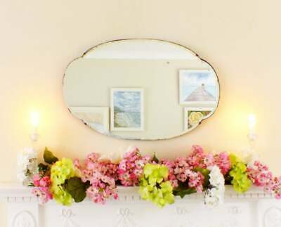 Antique vintage Art Deco frameless bevelled edge mirror Overmantle Bedroom