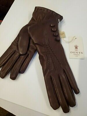 Dents Evelyn Cashmere Lined Hairsheep Leather Gloves  NWT $195 Size Small